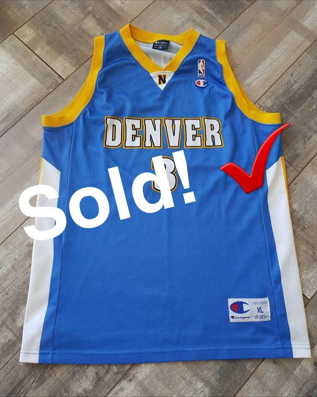 "Vintage Jersey Store 在 Instagram 上发布:""*SOLD* Allen Iverson Denver Nuggets  Jersey.✓???. . #vintagejerseyst… | Basketball jersey, Basketball is  life, Allen iverson"