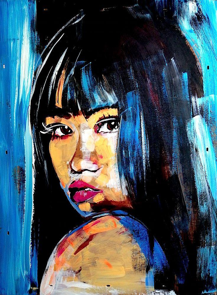 Mirey, peinture acrylique sur panneau aggloméré 60 cm x 80