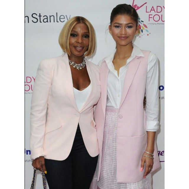 - NEW PHOTOS - Zendaya with Mary J. Blige at the LadyLike Foundation 7th Annual Women of Excellence Scholarship Luncheon in LA - [HQ] -  June 13th ,2015 - @Zendaya | #Zendaya - #ZendayaUpdate -