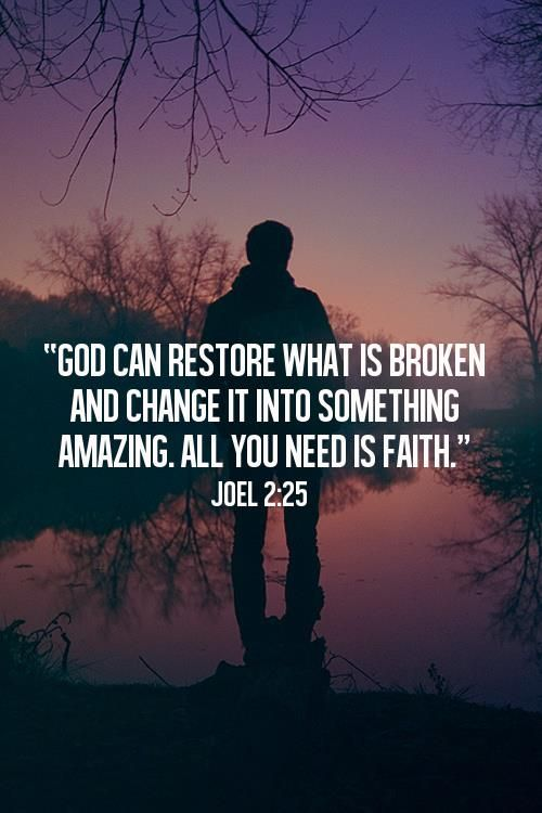 God can restore what is broken and change it into something