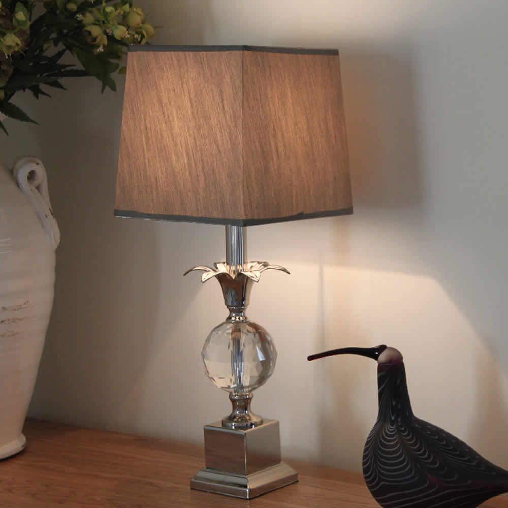 Nickel Pineapple Table Lamp | Elegant Boutique Hotel Table Lamp ...
