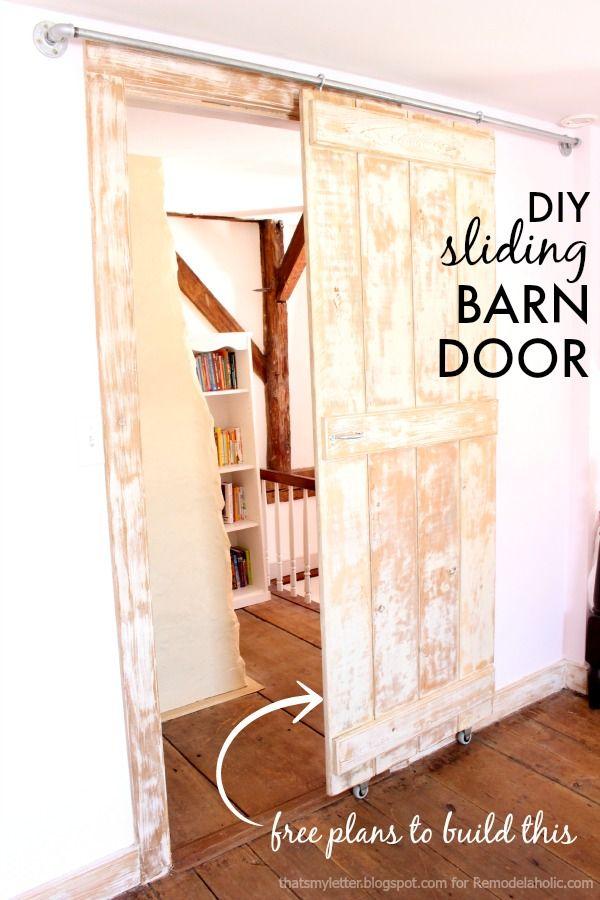 build an easy diy sliding barn door just 2 steps to build it