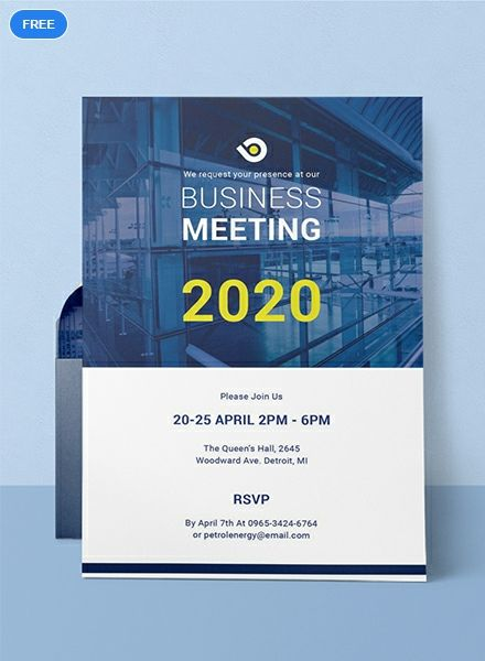 Free Business Meeting Invitation Event invitation design