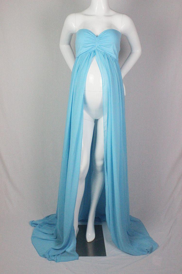 Babyinstar Maternity Strapless Chiffon Dress Maternity Photography ...