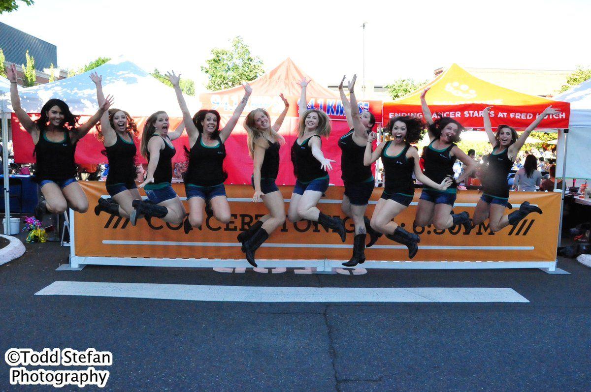 U Village Summer Concert Series Boot Boogie Babes White Girls CAN Jump!