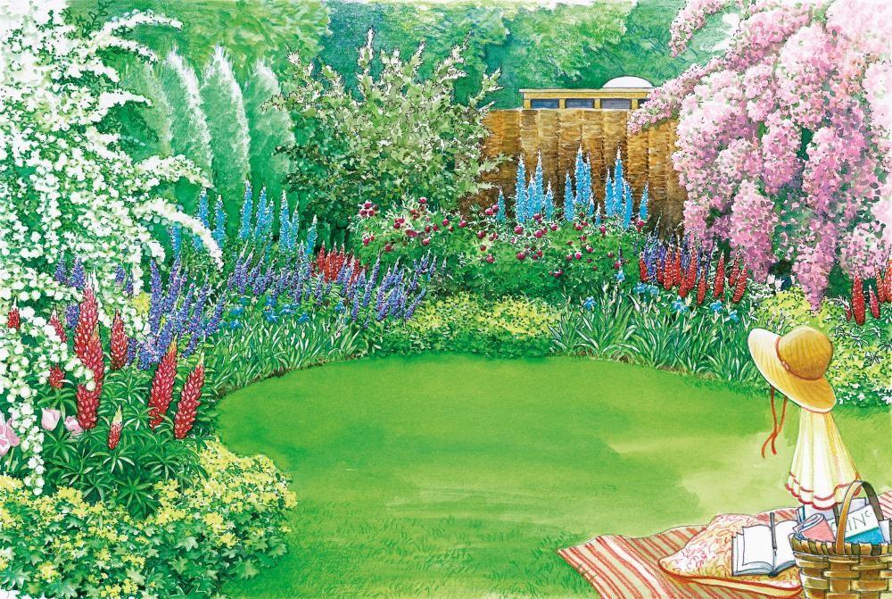 farbenpr chtiger sichtschutz gardens. Black Bedroom Furniture Sets. Home Design Ideas