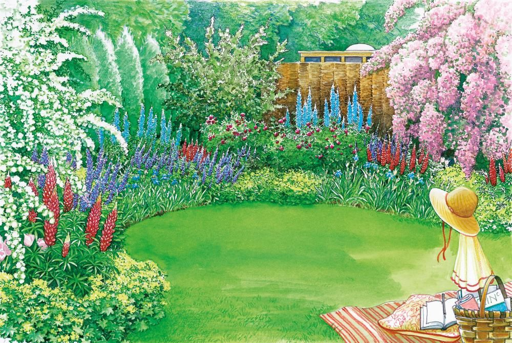 farbenpr chtiger sichtschutz japan and gardens. Black Bedroom Furniture Sets. Home Design Ideas