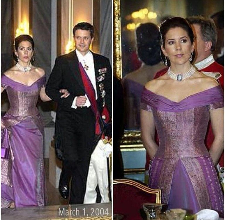 Crown Prince Frederik and Princess Mary, March 1, 2004