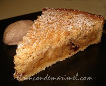 Tarta crumble de manzana pasas y canela Pinterest ;) | https://pinterest.com/cocinadosiempre/