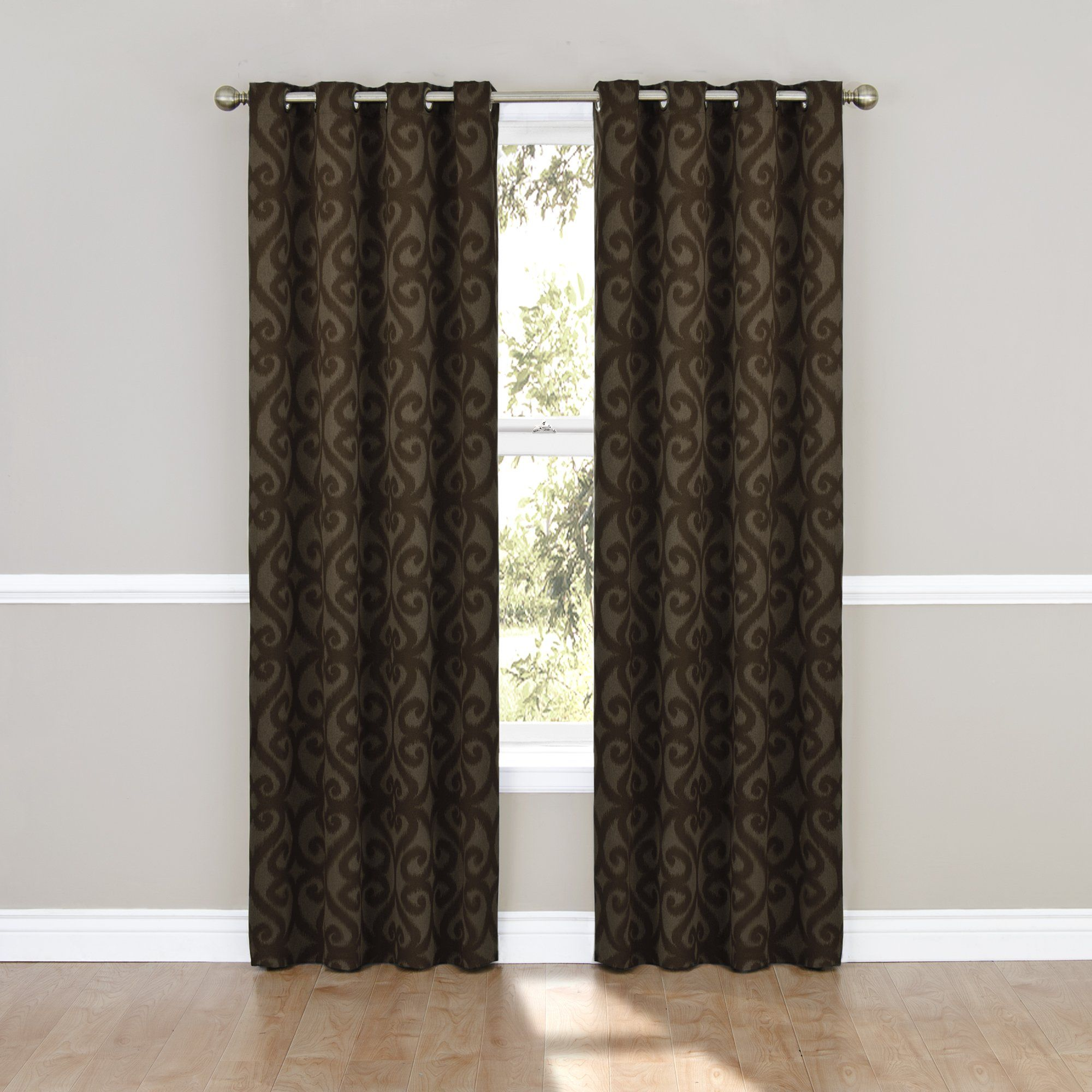 Bed bath and beyond window shades  amazon  eclipse patricia blackout grommet curtain panel