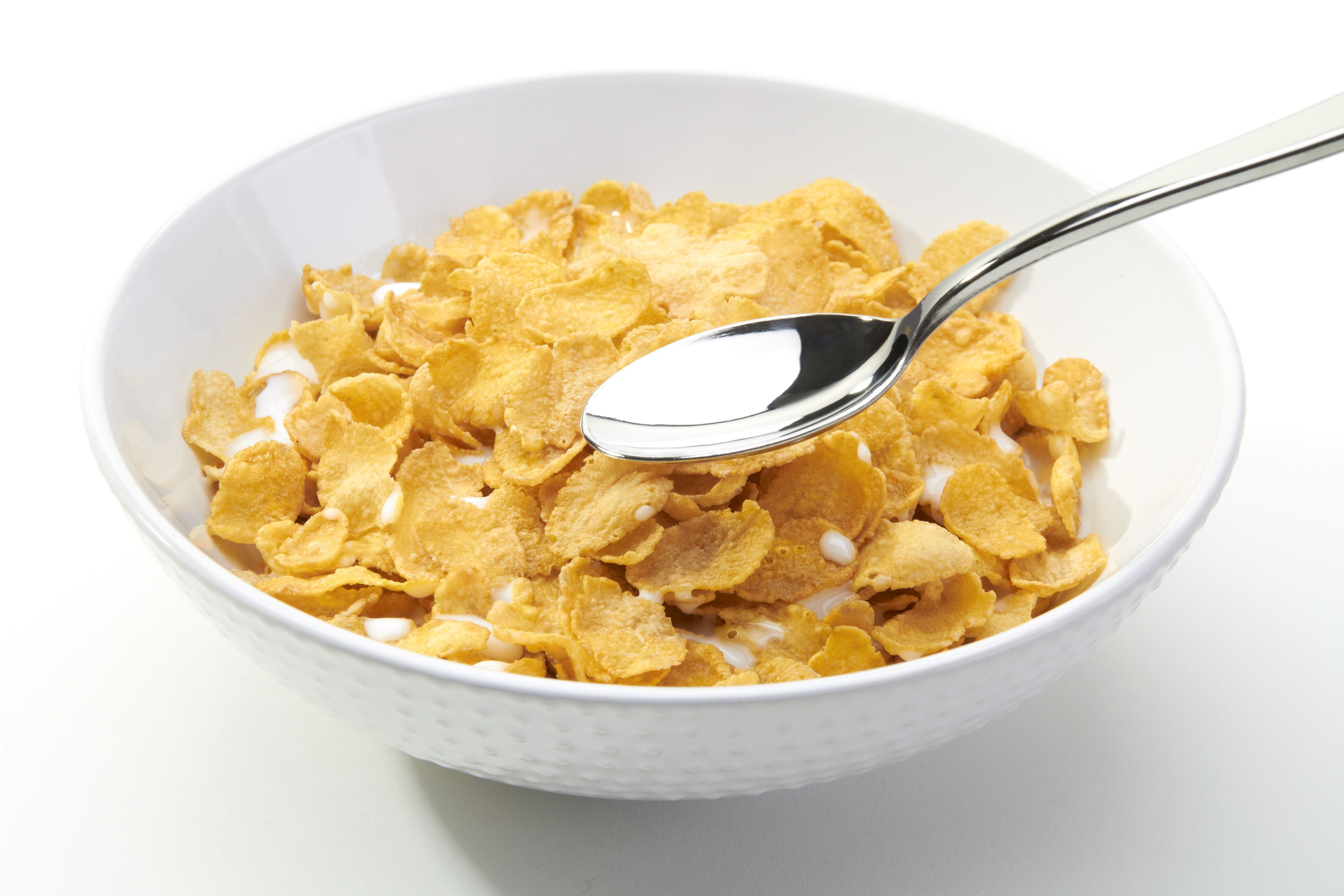 Simple But I Love It Corn Flakes And Sugar Food Low Calorie