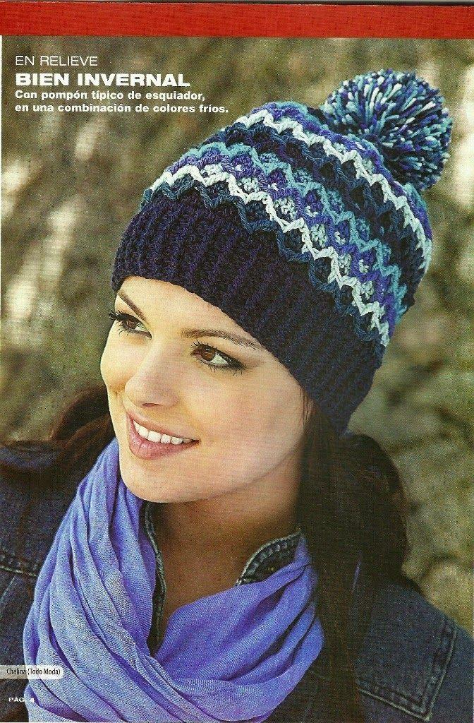 Hat crochet, Gorro a Crochet | trico | Pinterest | Bella, Gorros y ...