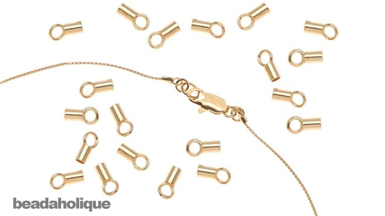 Clamshells Closed Ring Gold x 100 BEAD TIPS Callotte