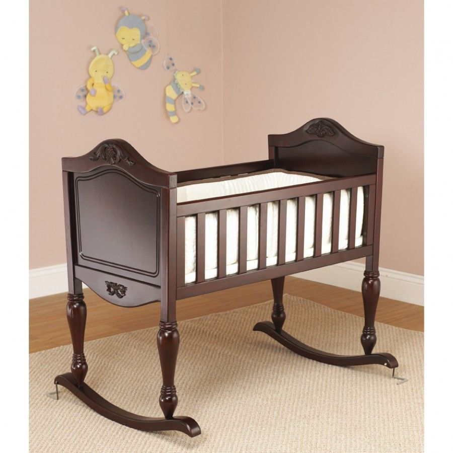 Sorelle Lisa Cradle In Cherry With Mattress Included 82 Ch