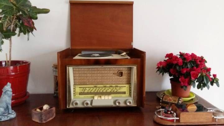 Meuble Radio Tourne Disque Vintage Tourne Disque