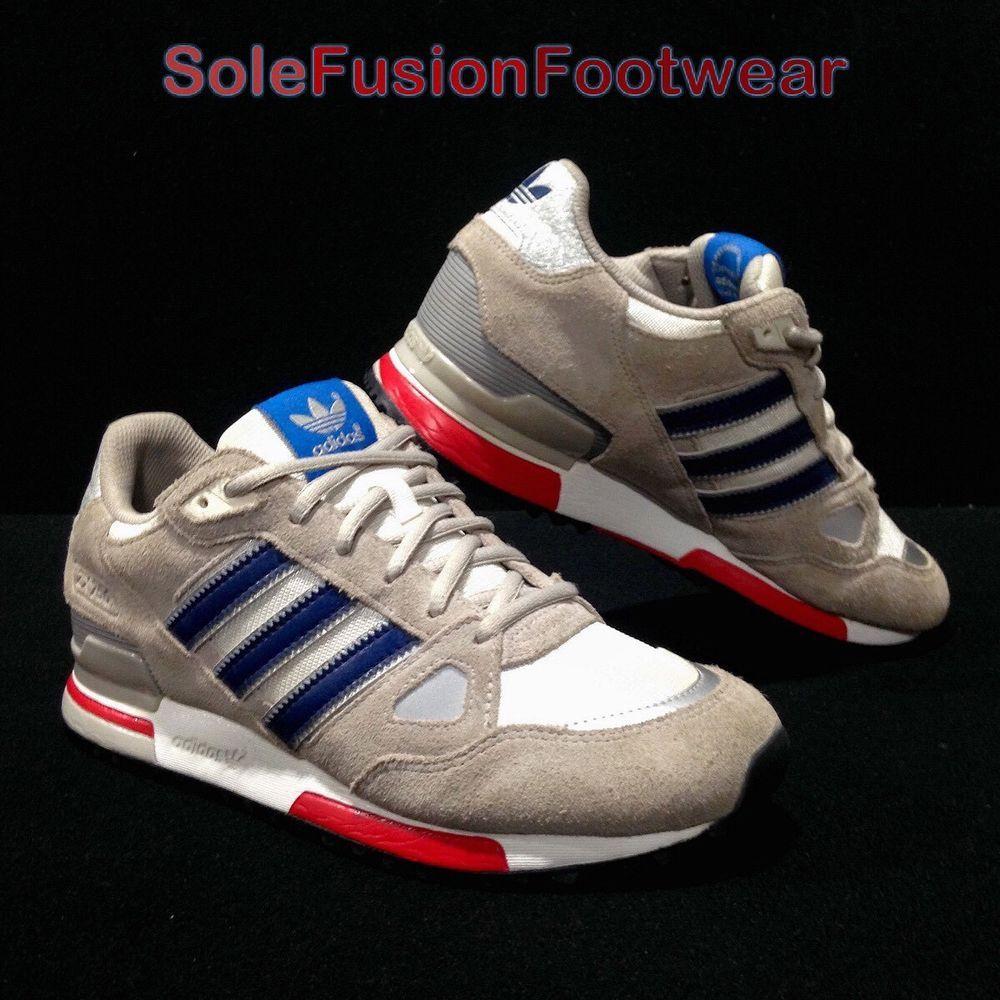 best cheap 1a777 e16db adidas Originals mens ZX 750 Running Trainers Grey/Blue sz 6 ...