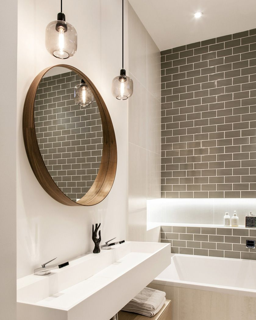Utiliser le carrelage m tro dans la salle de bain deco - Carrelage salle de bains design ...