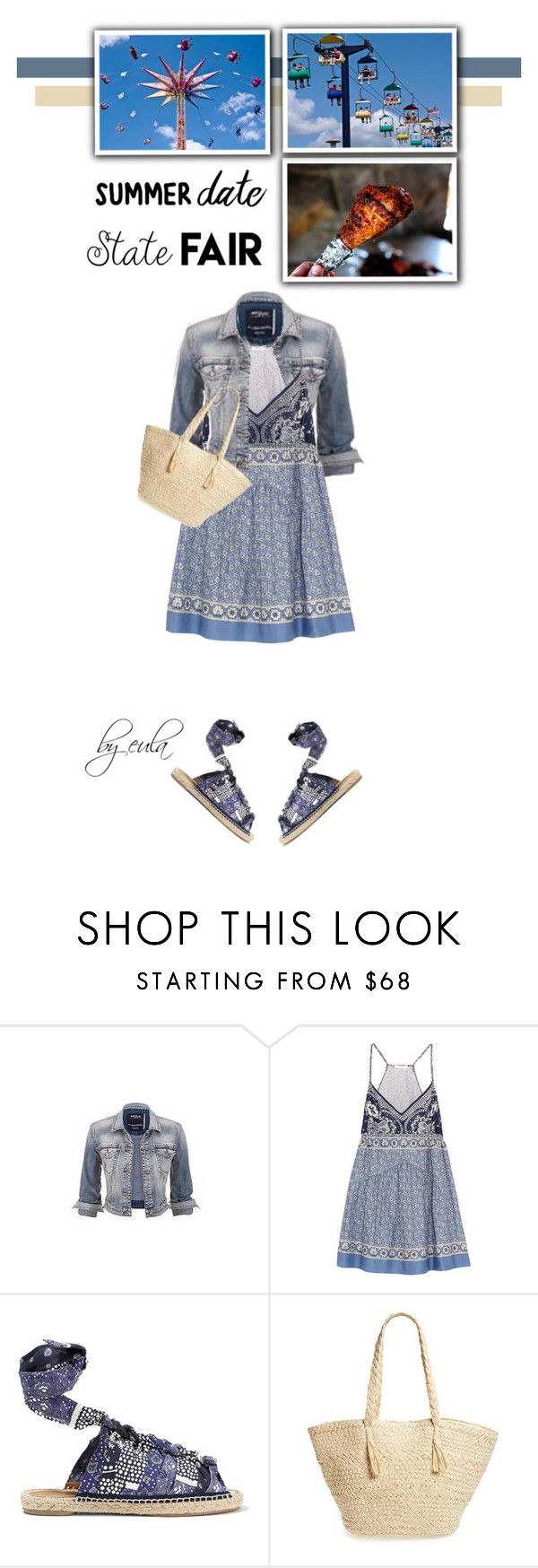 """Summer Date: The State Fair"" by eula-eldridge-tolliver ❤ liked on Polyvore featuring Silver Jeans Co. and Chloé"