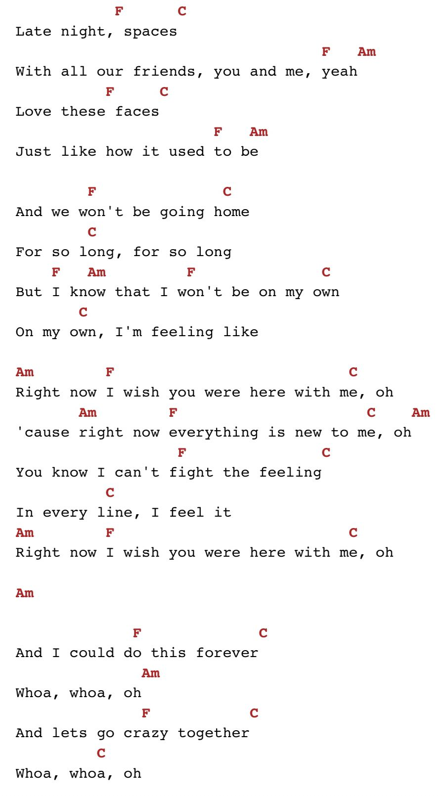 Right Now   One Direction chords