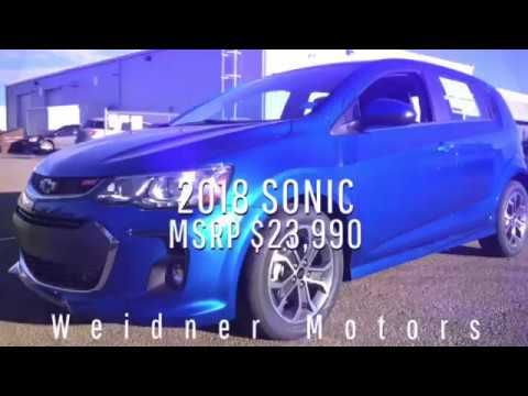 New 2018 Chevrolet Sonic Hatchback / Blue, FWD, LT / 18N084