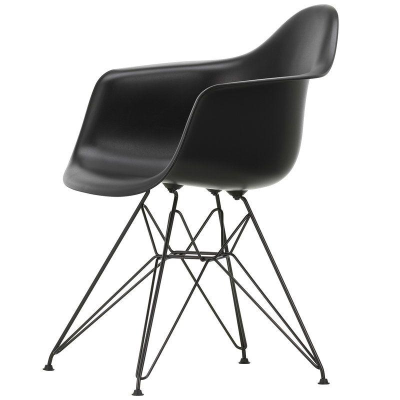 Vitra Eames Dar Chair Deep Black Basic Dark In 2020 Black Eames Chair Eames Vitra Chair