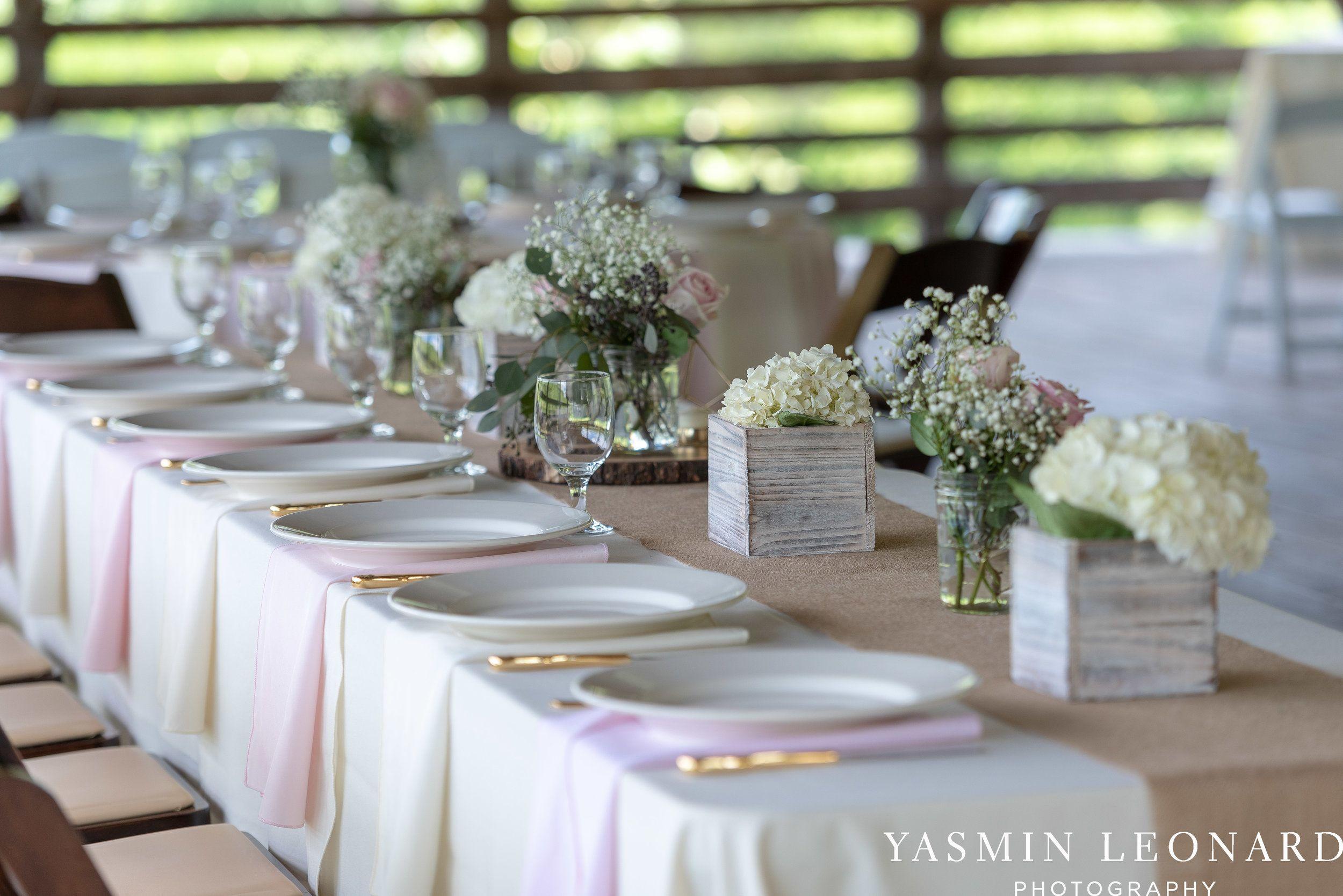 Pink and White Wedding Elkin Creek Vineyard Elkin