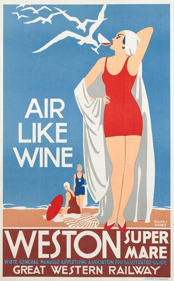 Weston super mare - Air like wine - Great western railway - 1930 - (William A. Sennett)