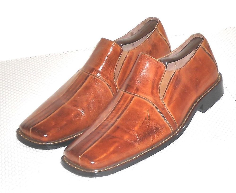 buy popular check out save off Fratelli Select Men's Brown Leather Square Toe Loafer Slip ...