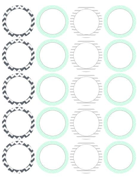 Circular printable labels by @catherine gruntman Auger chev - circle template