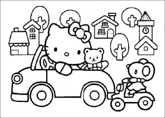 Free Printable Hello Kitty Coloring Pages Picture 13 550x392 Picture ...