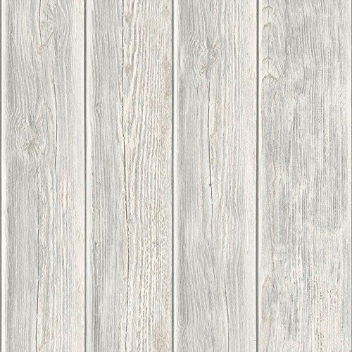 Muriva Wood Panel Faux Effect Wooden Beam Realistic Mural Wallpaper Grey J86817 Muriva Http Www Amazon Wooden Wallpaper Wood Effect Wallpaper Wood Paneling