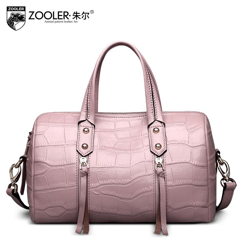 86.99$  Watch now - http://alizug.worldwells.pw/go.php?t=32657655985 - 2017 New zooler genuine leather women bag brands fashion crocodile grain quality  women leather handbags shoulder bag 86.99$