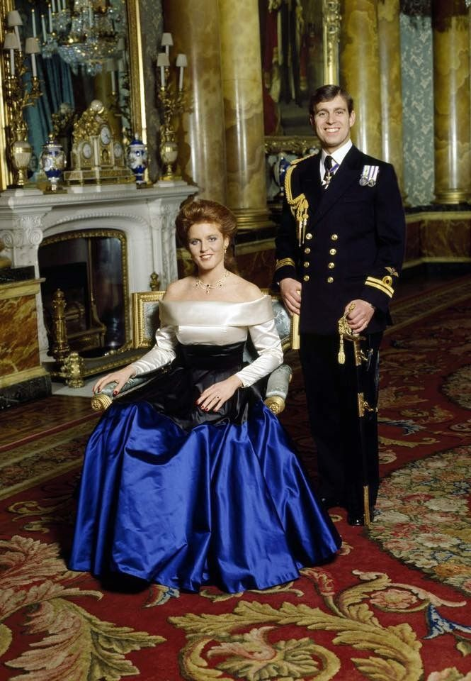 Engagement photo of Prince Andrew and Sarah Ferguson