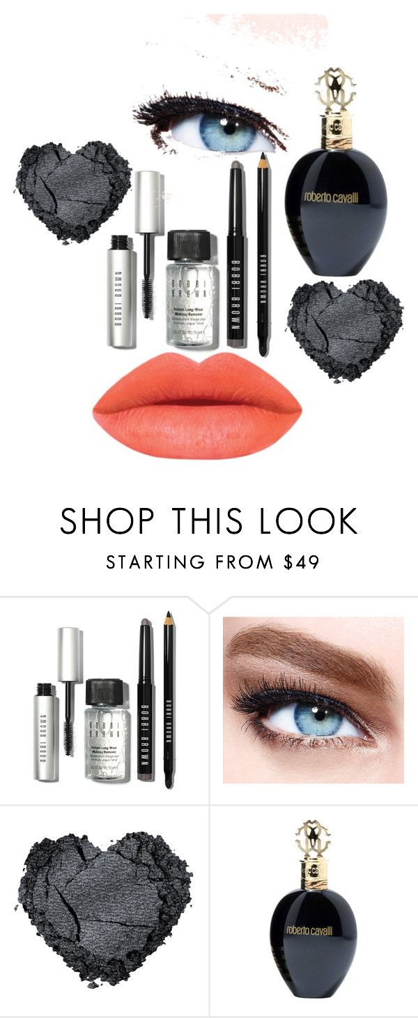 """""""Untitled #16"""" by dashthatfash ❤ liked on Polyvore featuring beauty, Bobbi Brown Cosmetics, Maybelline and Roberto Cavalli"""