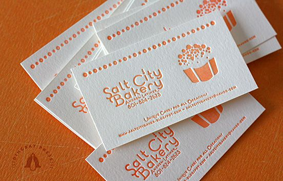 Salt City Bakery Letterpress Business Cards By Dingbat Press