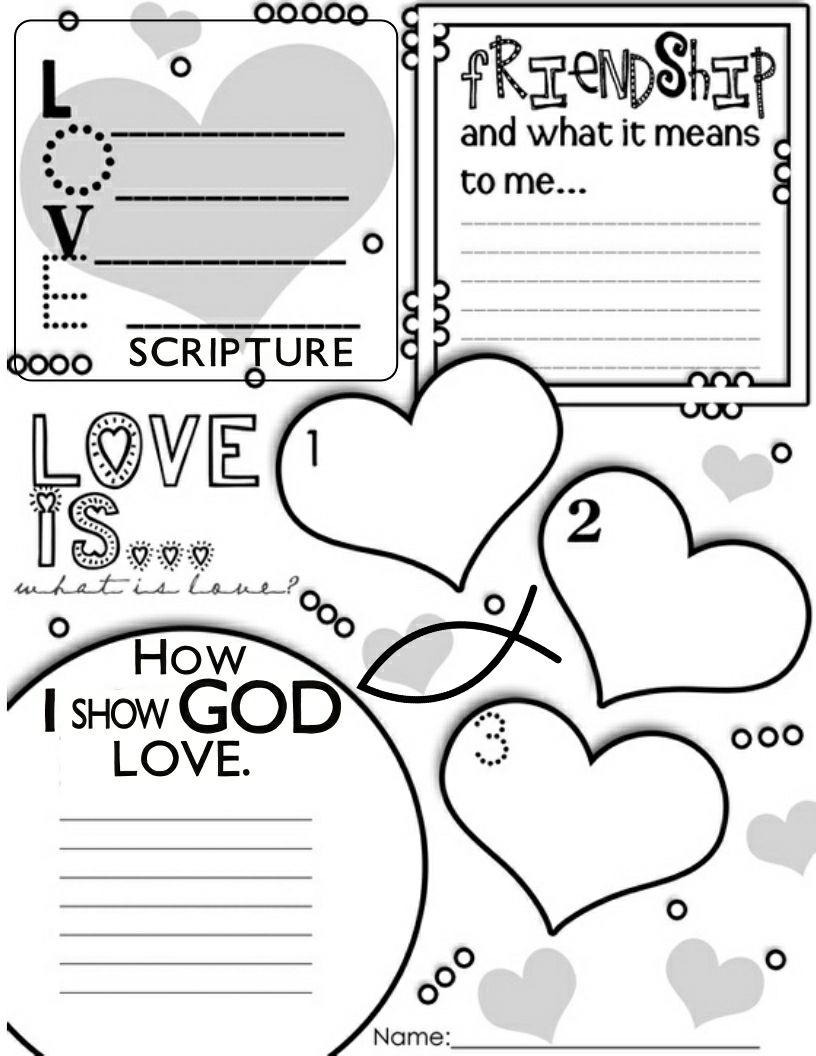 Love your neighbor coloring sheet · what is love activity sheet great for older kids
