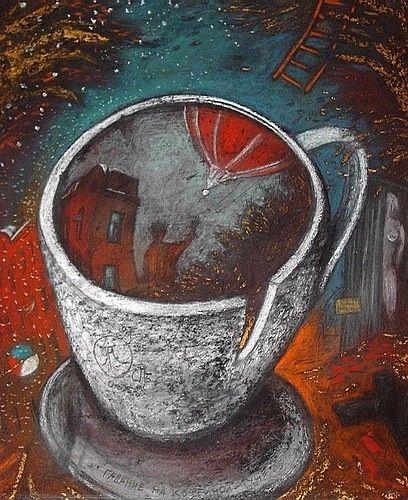 Гадание на кофейной гуще - художник Ян Антонышев, картина продается