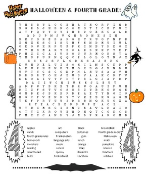 Halloween 4th Grade Word Search | Halloween, Words and Searching