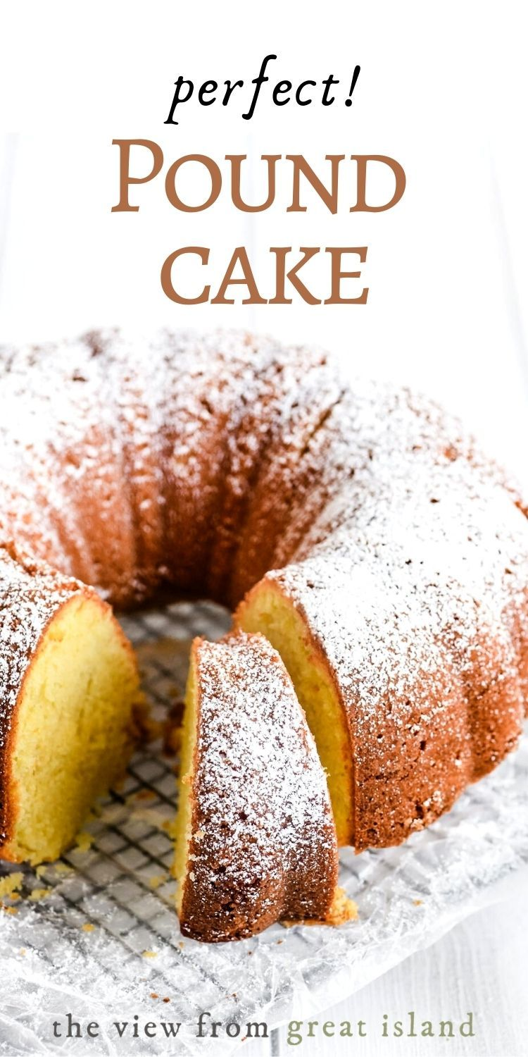 Perfect Buttermilk Pound Cake Is Made With The Classic Ratio Of Butter Sugar Eggs And Flour This Easy In 2020 Buttermilk Pound Cake Pound Cake Dessert Recipes Easy