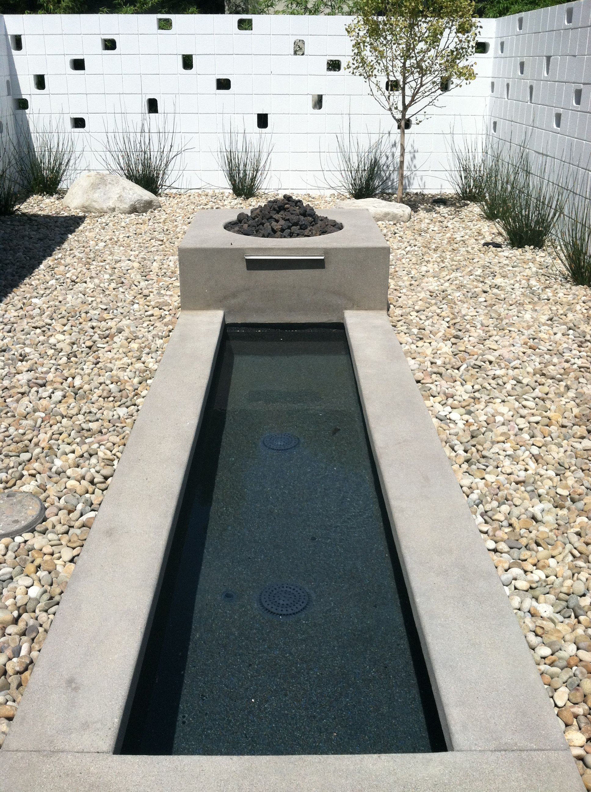 Fire Pit Fountain Combo Water Features Front Garden Design Landscaping With Fountains