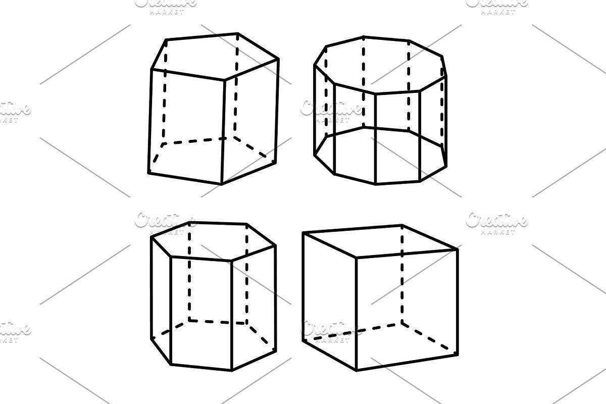 Geometric, Object, Shape, Set, Isolated, Color,