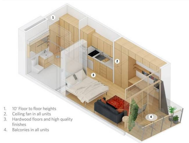 lifeedited s entry in the new york city micro apartment competition