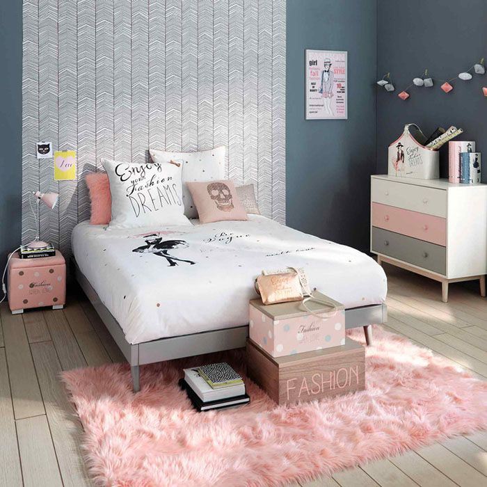 ambiance rose pastel pour une chambre d 39 ado filles. Black Bedroom Furniture Sets. Home Design Ideas