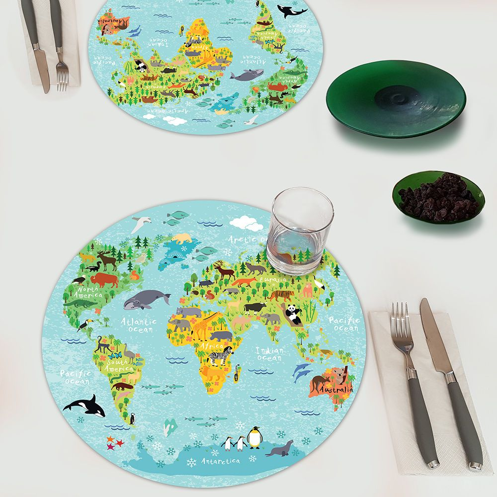 World map kitchen mats for bathroom table placemats coasters world map kitchen mats for bathroom table placemats coasters tableware kids gift gumiabroncs Choice Image