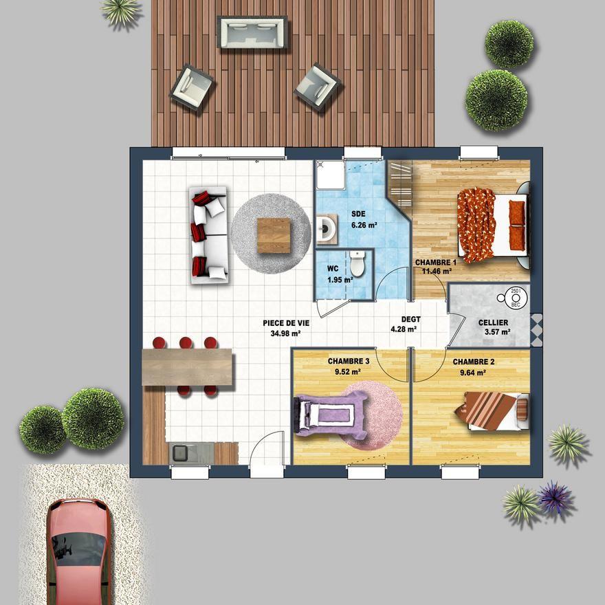 Maison contemporaine St Hilaire de Riez 85 Croquis, kawaii - logiciel construire sa maison