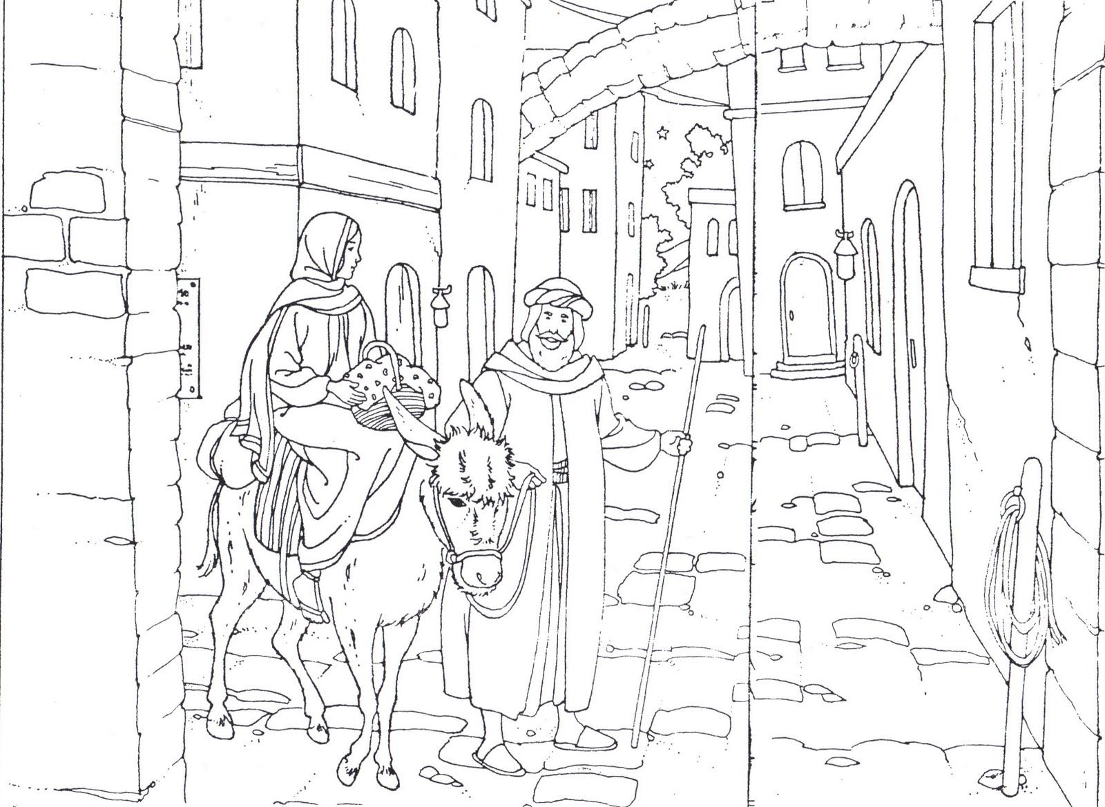 Coloring sheet mary and joseph bethlehem - Find This Pin And More On Catequesis By Anyabdala58 Joseph Mary Travel To Bethlehem