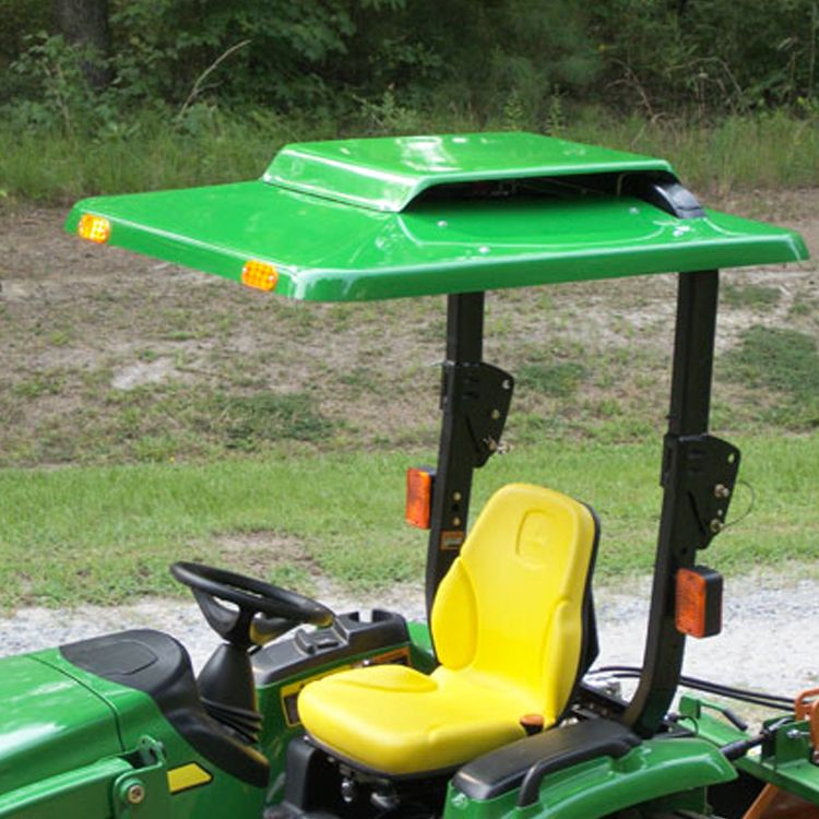 Tractor Sunshade Canopy for John Deere Tractor with built in Down Draft Fan - Green : john deere canopy for lawn tractor - memphite.com