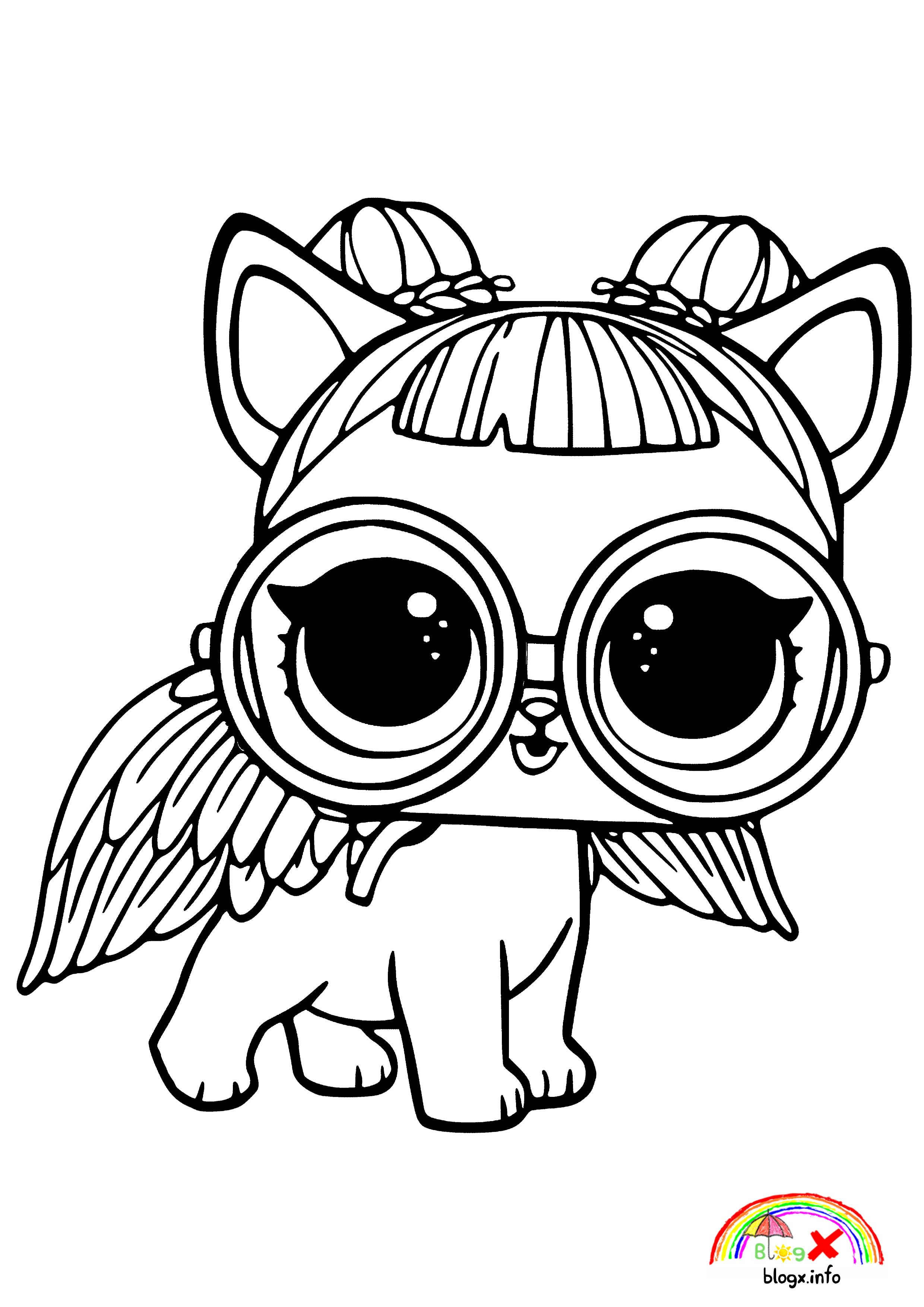 Cute Pet Lol Dolls Coloring Page | Unicorn coloring pages ...