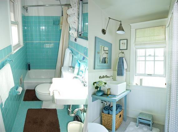 Turquoise Decorating Ideas For Apartments Bathrooms: Bathroom Mirror Ideas (DIY) For A Small Bathroom