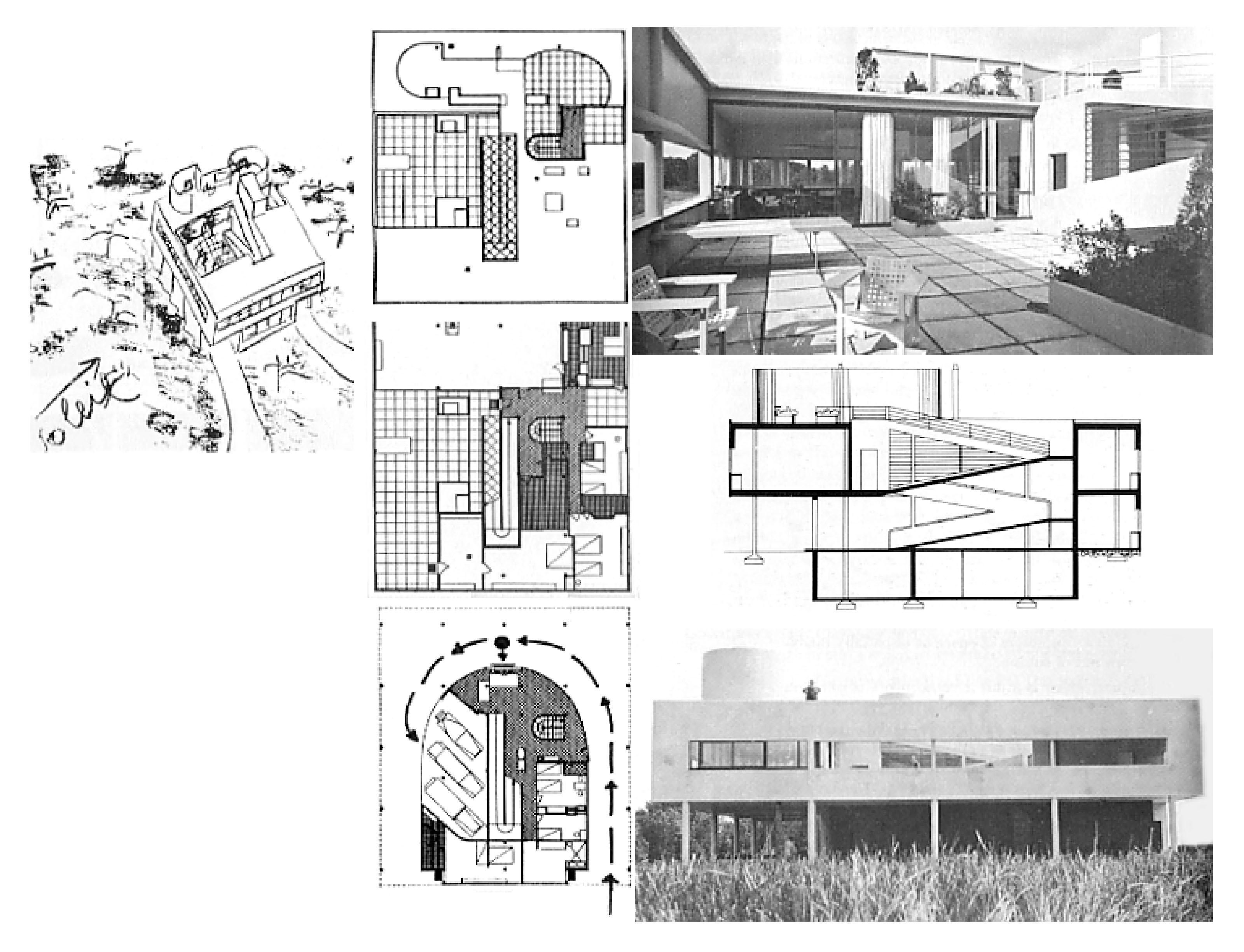 Villa Savoye, Le Corbusier | presentations | drawings | Pinterest ...